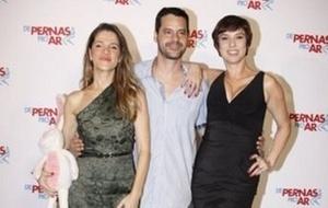 Ingrid Guimarães, Bruno Garcia e Maria Paula no lançamento do longa