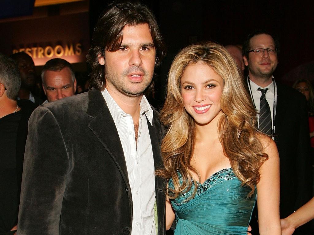 Shakira e Antonio de la Rua em evento beneficente da fundação da cantora, Pés Descalços, em Las Vegas (6/11/2007)