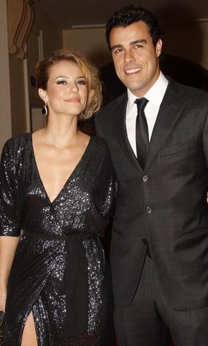 Paola Oliveira e Joaquim Lopes na festa de lançamento de