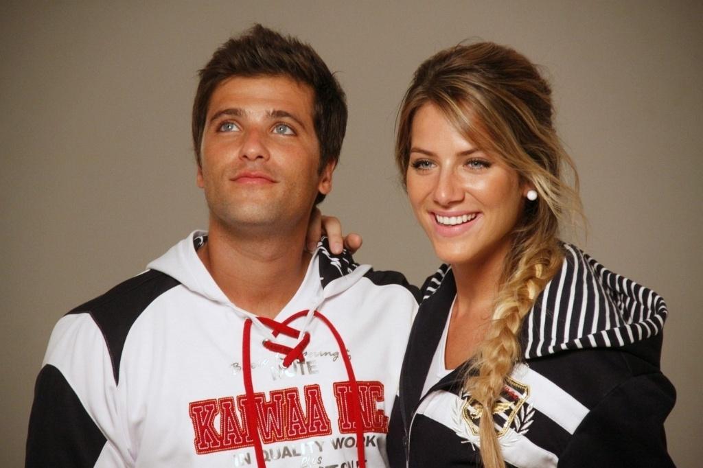 Bruno Gagliasso e Giovanna Ewbank posam para catálogo de moda no Rio (8/2/2011)
