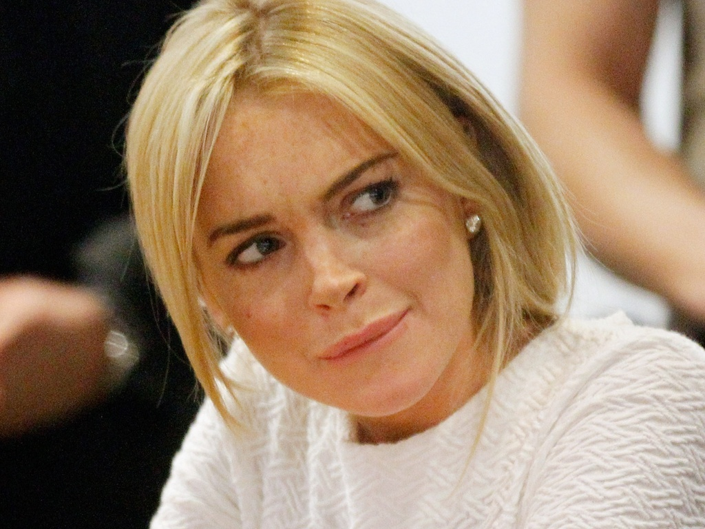 A atriz Lindsay Lohan durante audincia em um tribunal de Los Angeles (9/2/2011)