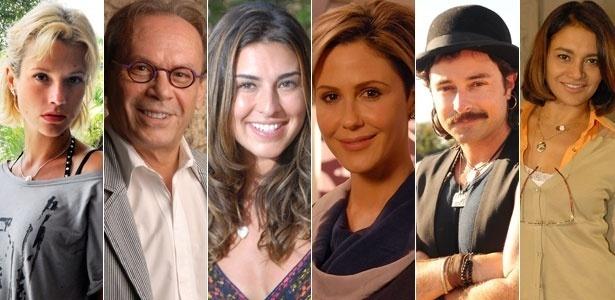 Juliana Didone, José Wilker, Fernanda Paes Leme, Guilhermina Guinle, Emílio Orciollo Netto e Dira Paes