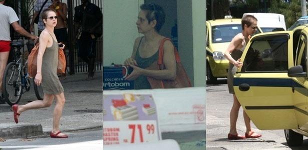 Drica Moraes faz compras em Copacabana, na zona sul do Rio (25/2/2011)