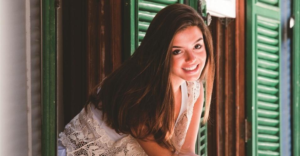 Giovanna Lancellotti durante ensaio fotográfico para a revista