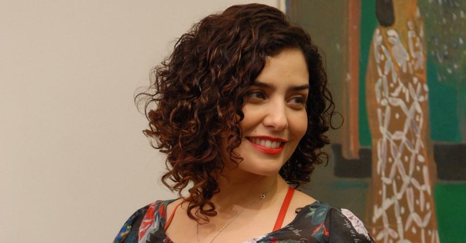 Letícia Sabatella no lançamento de