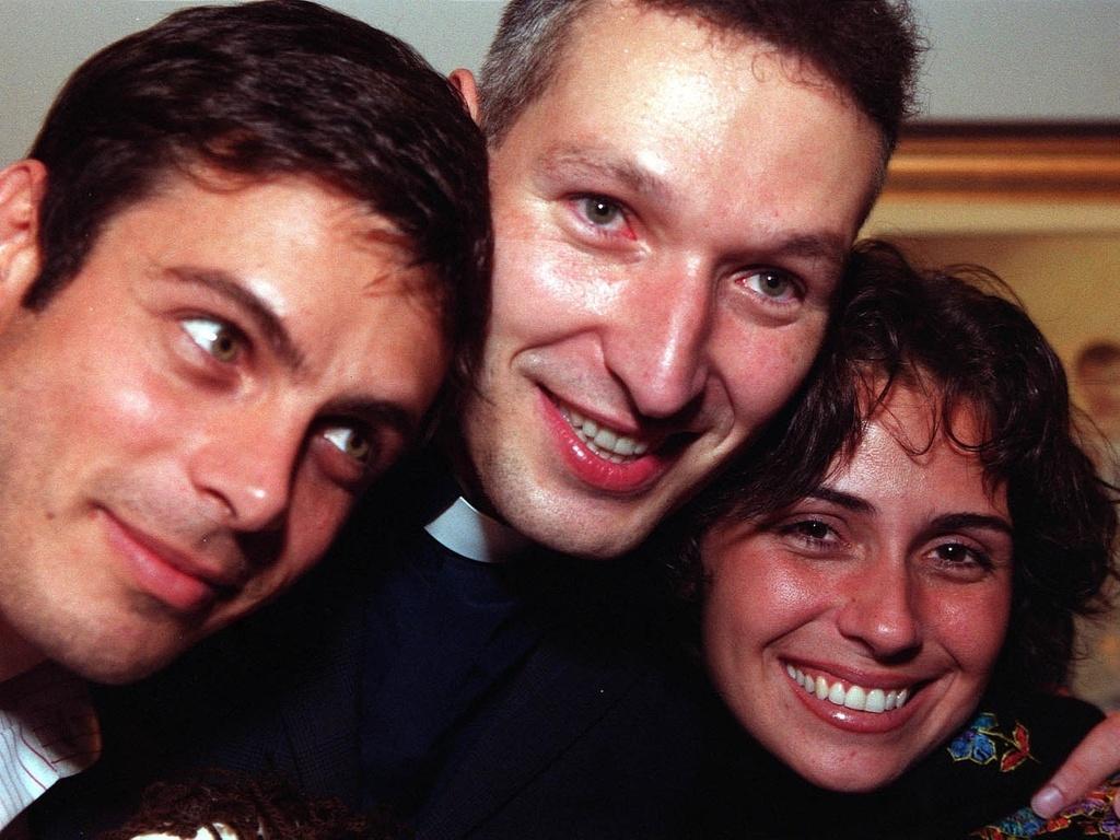 Luigi Baricelli, Padre Marcelo Rossi e Giovanna Antonelli na coletiva do filme