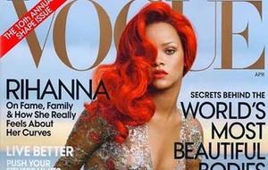 Rihanna na capa da edição de abril da
