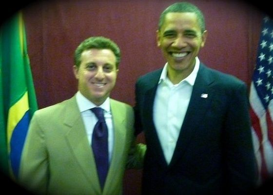 Luciano Huck e Barack Obama no Theatro Municipal do Rio (20/3/11)