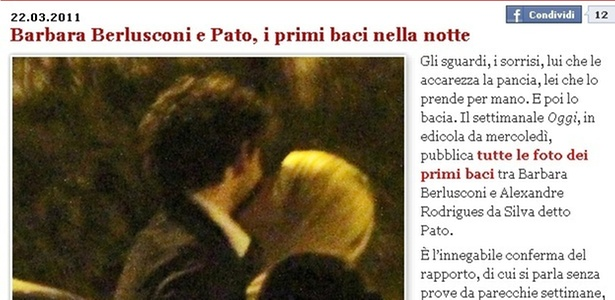 Flagra do beijo de Bárbara em Pato, que está na edição desta semana da revista