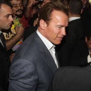 Arnold Schwarzenegger no 2º Fórum Mundial de Sustentabilidade, em Manaus