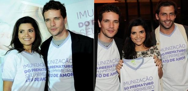 Vanessa Giácomo, Daniel de Oliveira e Henri Castelli participam da campanha