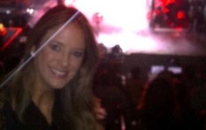 Ticiane Pinheiro assiste ao show de Lady Gaga em Miami (13/4/11)