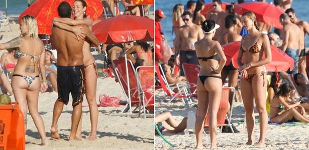 Luana Piovani curte praia do Leblon com amigos e namorado (17/4/11)