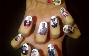 Foto publicada por Katy Perry no Twitter mostra as unhas da cantora em homenagem ao príncipe William (29/4/2011)