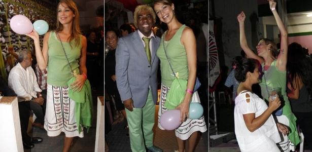 Luana Piovani e Ivo Meirelles na festa de 83 anos da Mangueira, no Rio (28/4/2011)