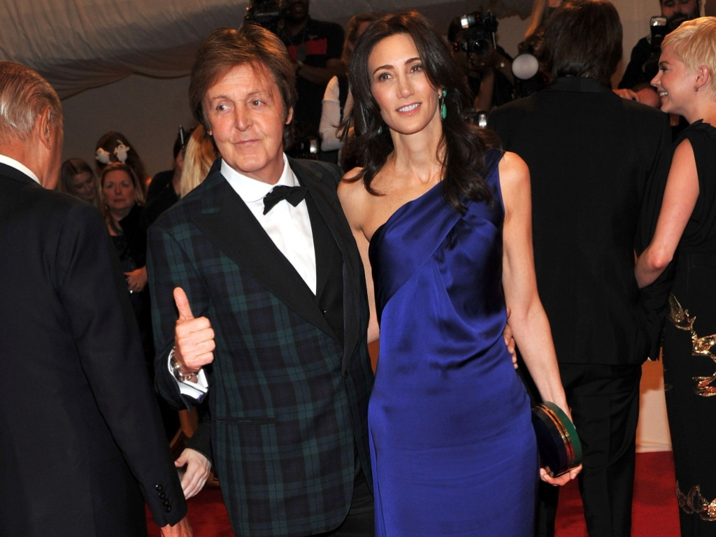 Paul McCartney e Nancy Shevell no baile de gala