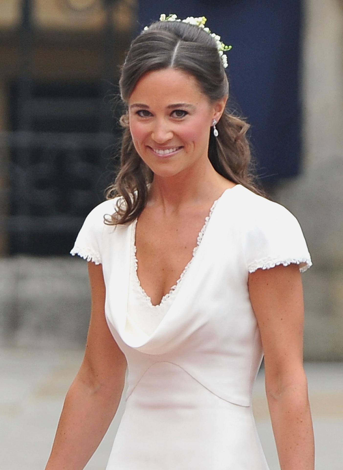 Pippa Middleto no dia do casamento de sua irmã Kate com o príncipe William, na abadia de Westminster, Londres (29/4/2011)
