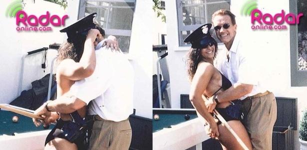 Arnold Schwarzenegger abraça stripper em festa de aniversário