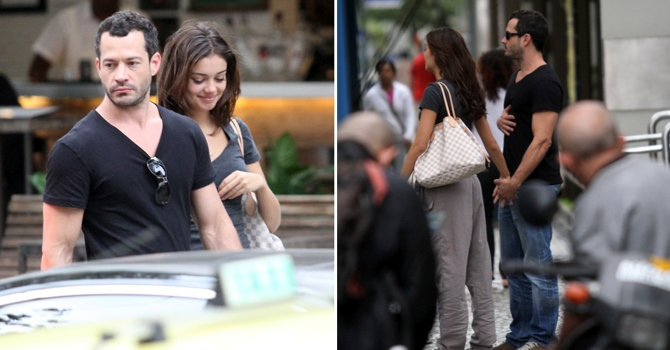 Apesar de confirmarem o romance, Malvino Salvador e Sophie Charlotte são vistos de mãos dadas pelas ruas de Ipanema (7/6/11)