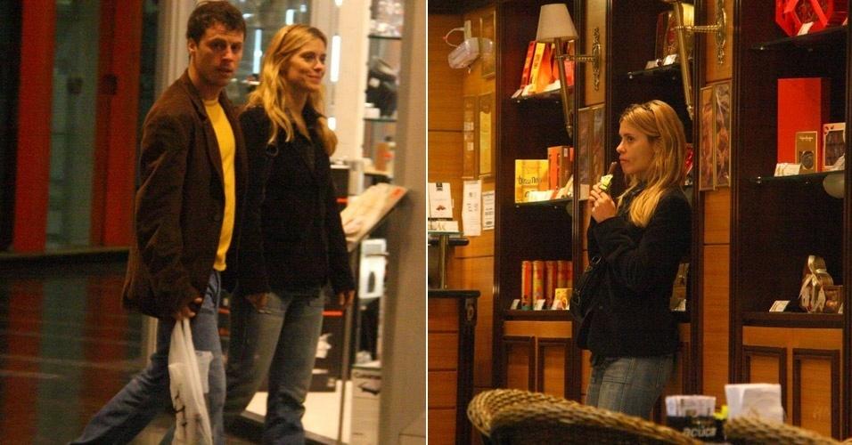 Carolina Dieckmann passeia em shopping no Rio de Janeiro com o marido, Tiago Worcman (12/6/11)