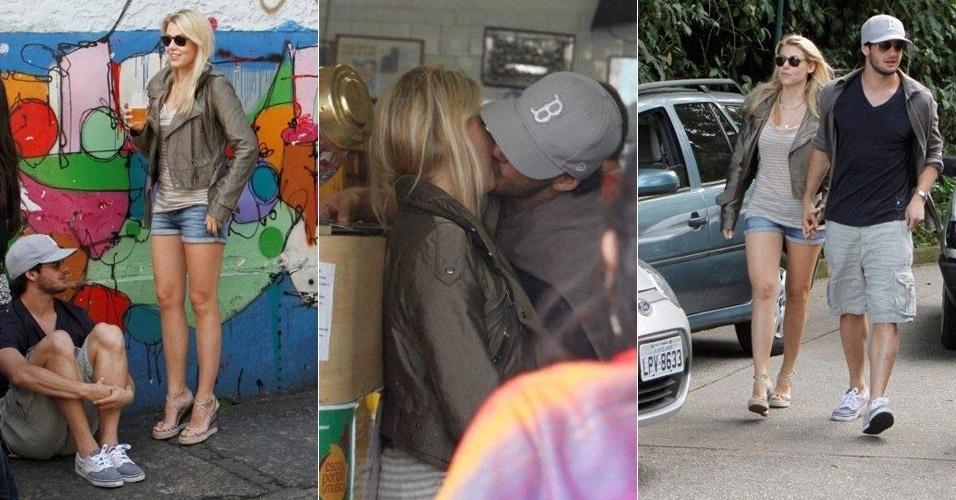 O jogador Alexandre Pato e Barbara Berlusconi passeiam pelo Rio de Janeiro (12/6/11)