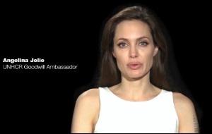 Angelina Jolie em vídeo em apoio aos refugiados, no site do Alto Comissário das Nações Unidas para Refugiados (14/6/2011)