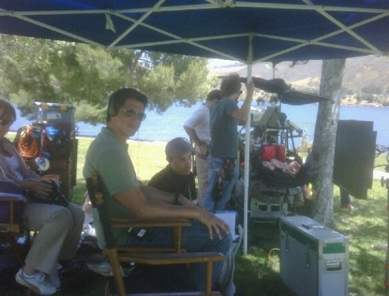 Márcio Garcia publica foto dos bastidores do filme