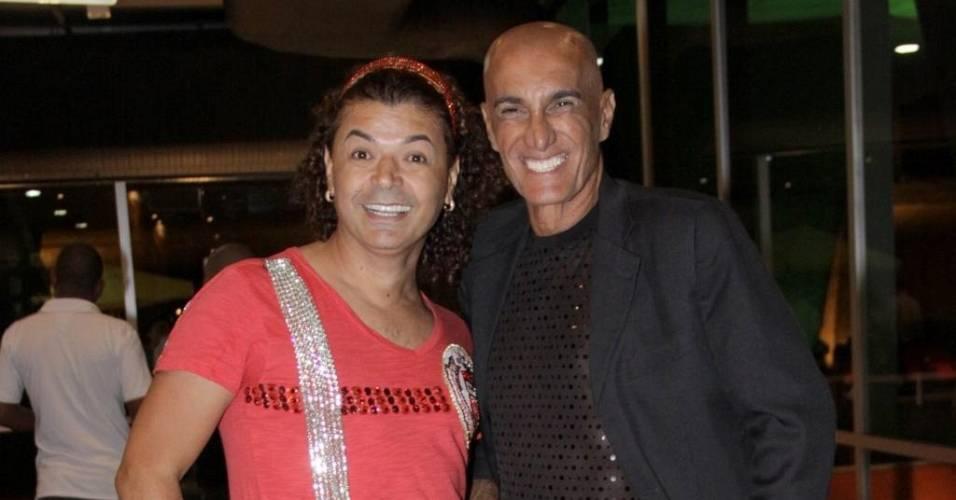 David Brazil e Amin Khader durante premiação no Rio de Janeiro (17/3/2011)