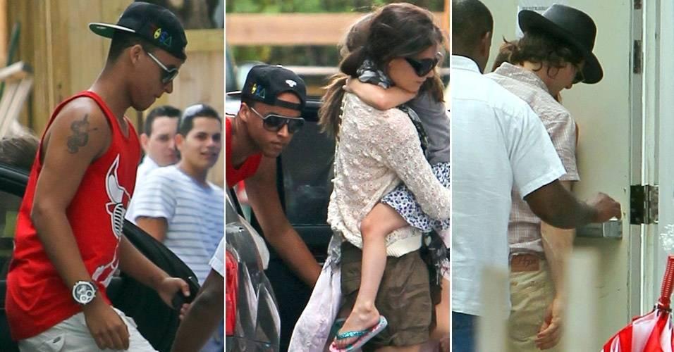 Família Cruise, Connor, Katie, Suri e Tom, chegam a hotel em Miami (2/7/11)