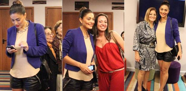 Juliana Paes assiste ao musical
