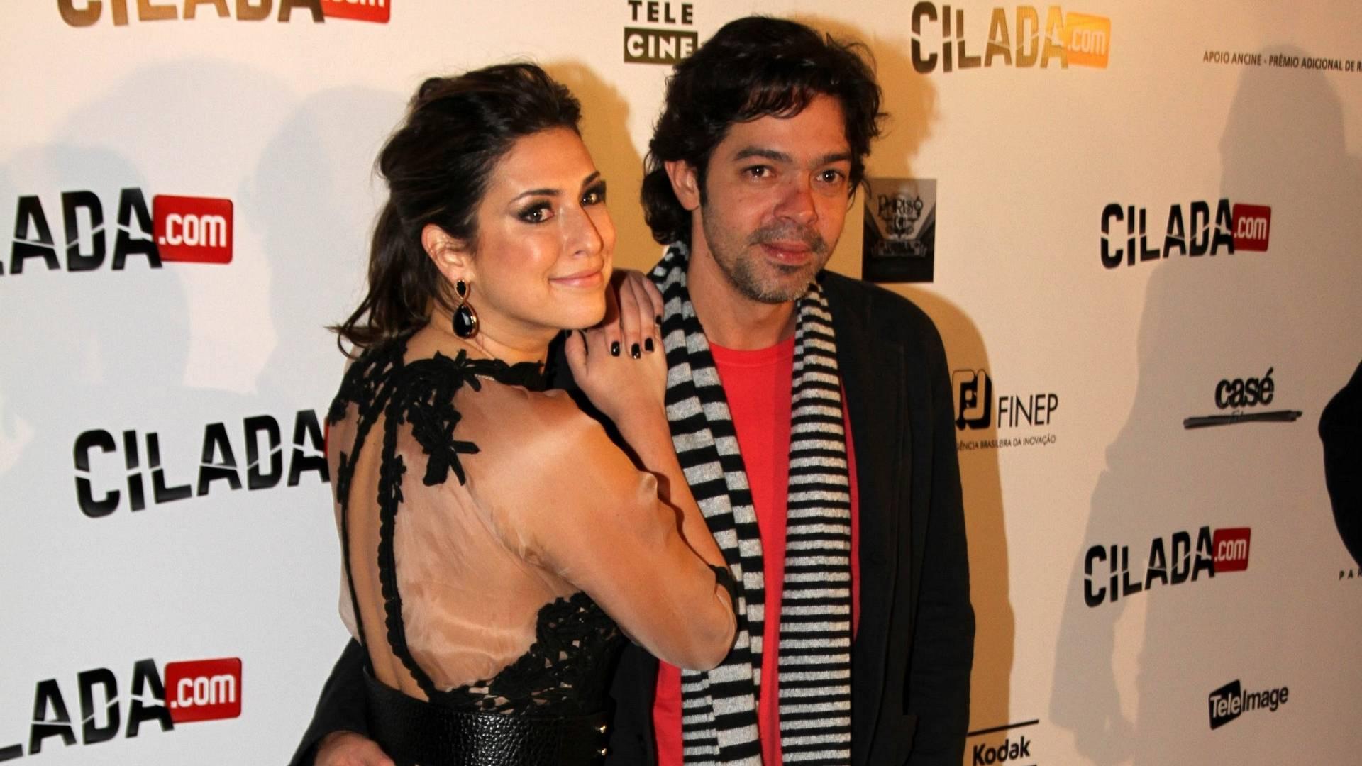 Fernanda Paes Leme e Bruno Mazzeo na pré-estreia de