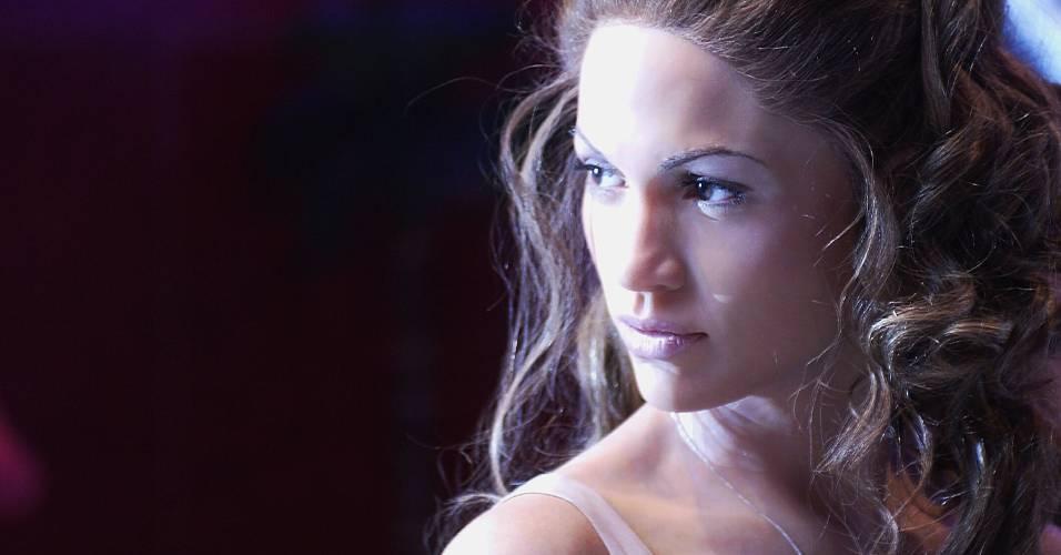 Figura de cera da atriz e cantora Jennifer Lopez no museu Madame Tussauds de Londres (21/5/2003)