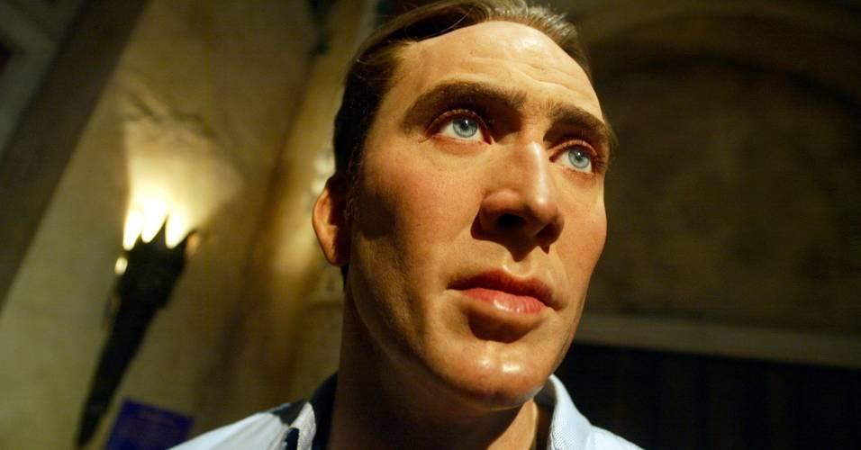 Figura de cera do ator Nicolas Cage no museu Madame Tussauds de Nova York (10/4/2002)