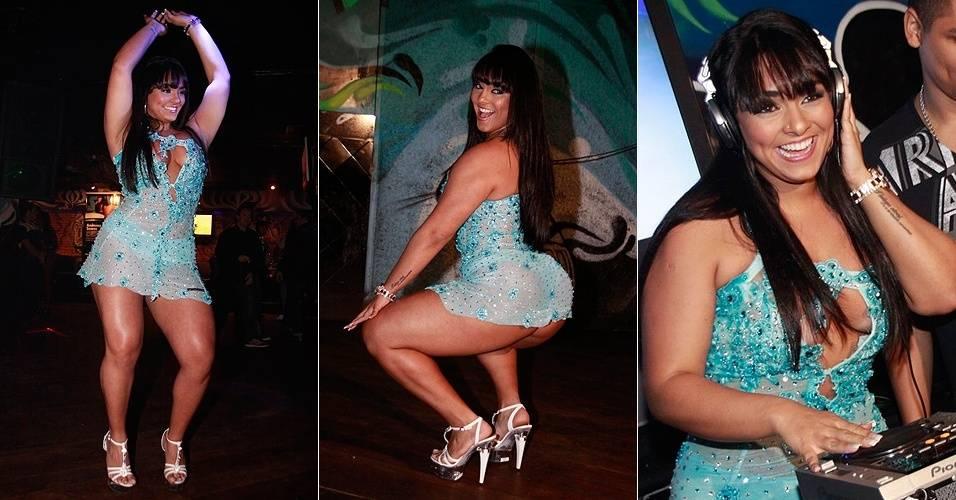 Andressa Soares, a Mulher Melancia, comemora o lançamento da edição da revista