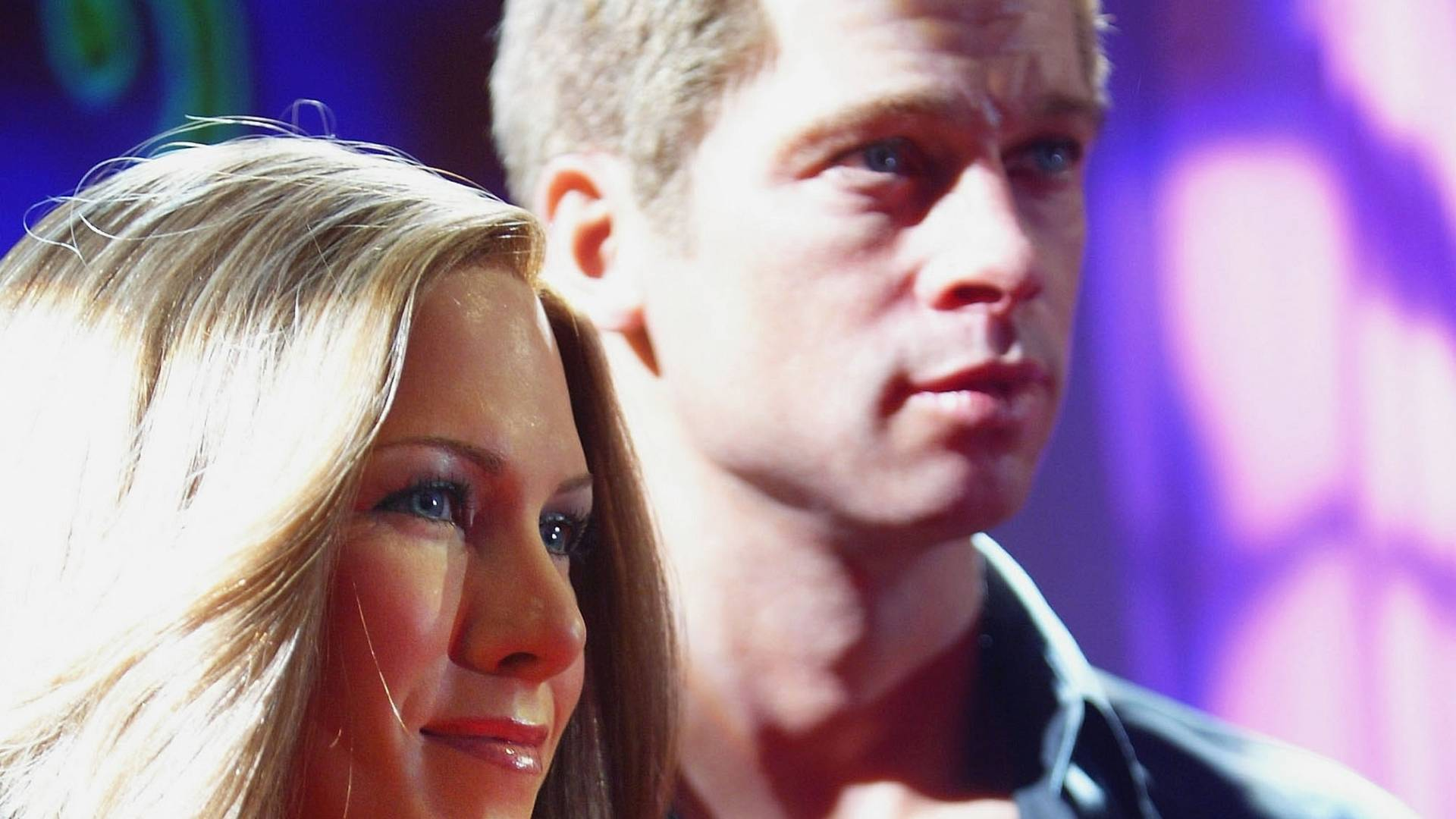 Figuras de cera de Jennifer Aniston e Brad Pitt no museu Madame Tussauds de Londres (18/8/2004)