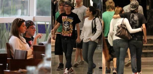 Giovanna Lancellotti e Pe Lanza durante passeio em shoppind da zona oeste do Rio (6/7/2011)