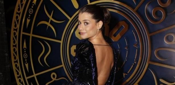 Alinne Moraes na festa de lançamento de