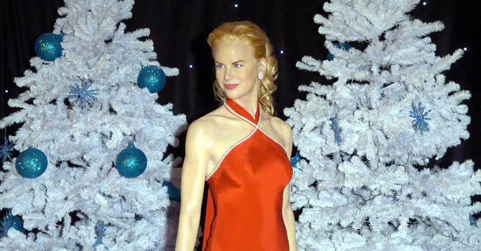 Figura de cera da atriz Nicole Kidman no museu Madame Tussauds de Londres (5/12/2007)