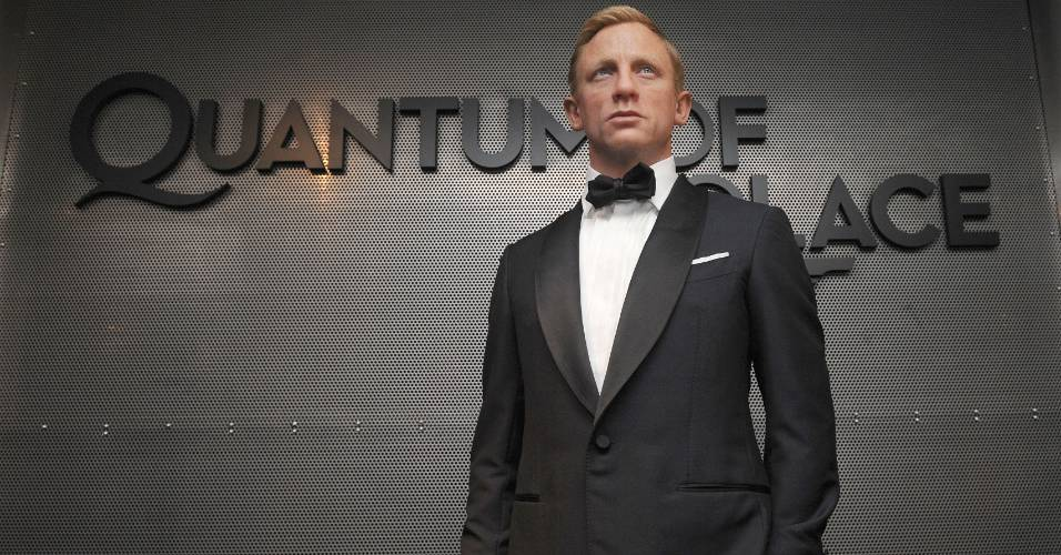 Figura de cera do ator Daniel Craig, vestido como James Bond, no museu Madame Tussauds de Nova York (13/11/2008)