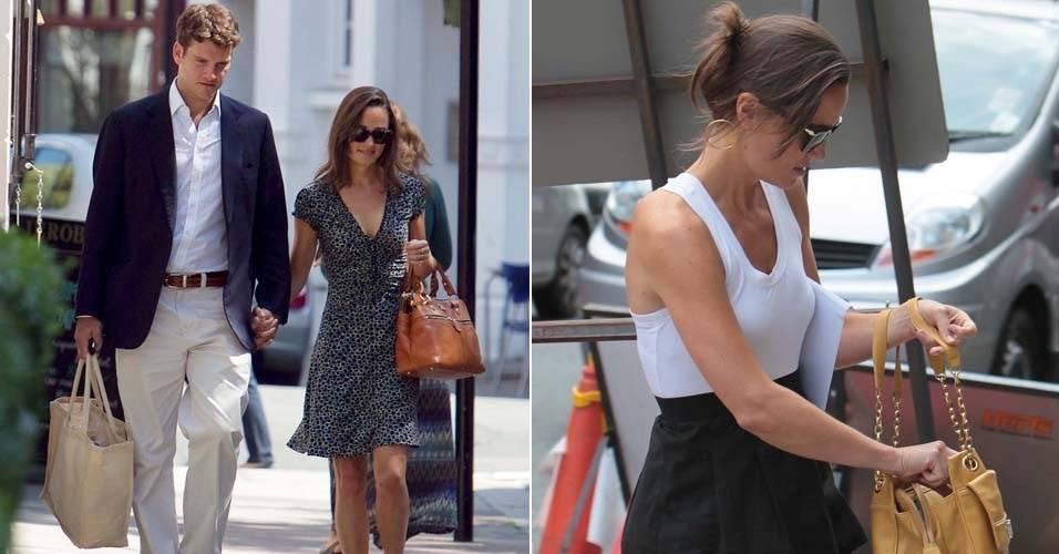 Pippa Middleton e o namorado Alex Loudon caminham de mãos dadas pelas ruas de Londres (3/7/11)