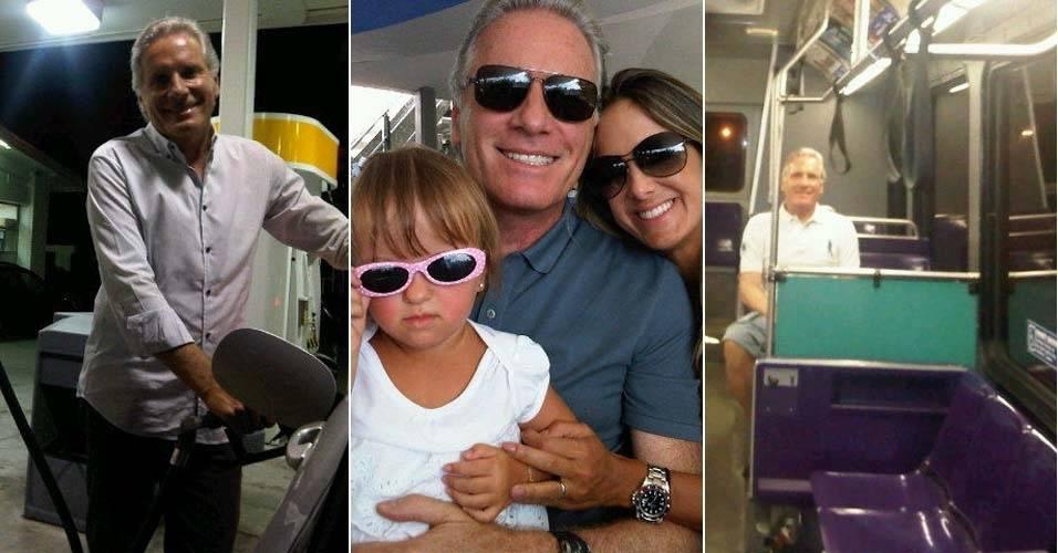 """De férias na Disney, Roberto Justus anda de ônibus e """"ataca"""" de frentista (18/7/11)"""