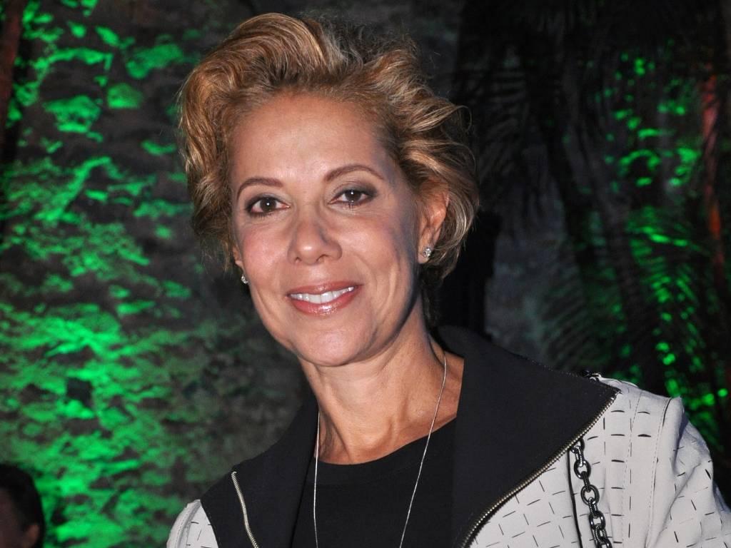 Ângela Vieira na coletiva de imprensa de