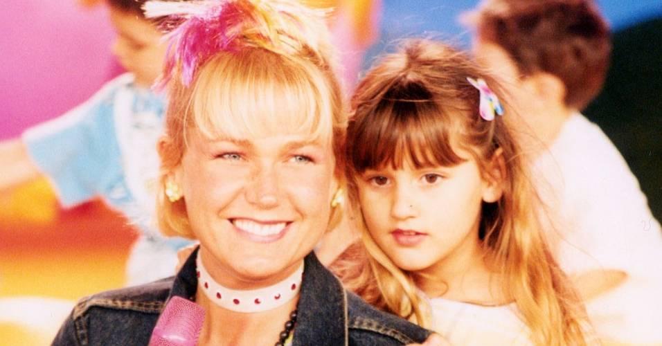 """Sasha participa do programa da mãe Xuxa, """"Xuxa no Mundo da Imaginação"""" (7/4/2003)"""