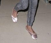 As sapatilhas de bailarina usadas por Amy Winehouse