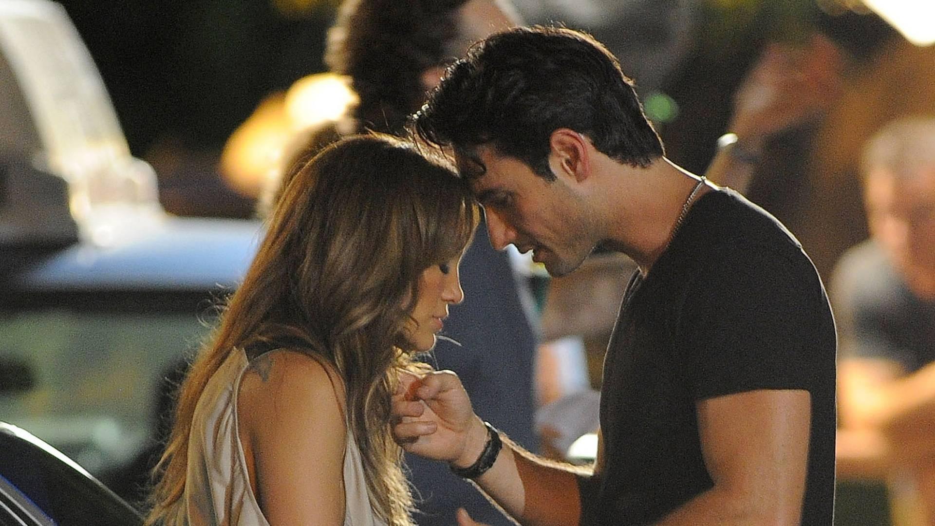 Jennifer Lopez e Rodrigo Santoro gravam cenas românticas do filme nos EUA (29/7/11)