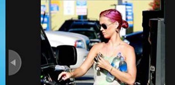 A cantora Katy Perry, em foto publicada pelo site da revista