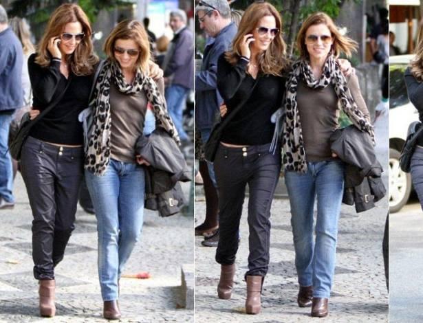 Guilhermina Guinle e Vera Zimmermann passeiam na zona sul do Rio (5/8/2011)