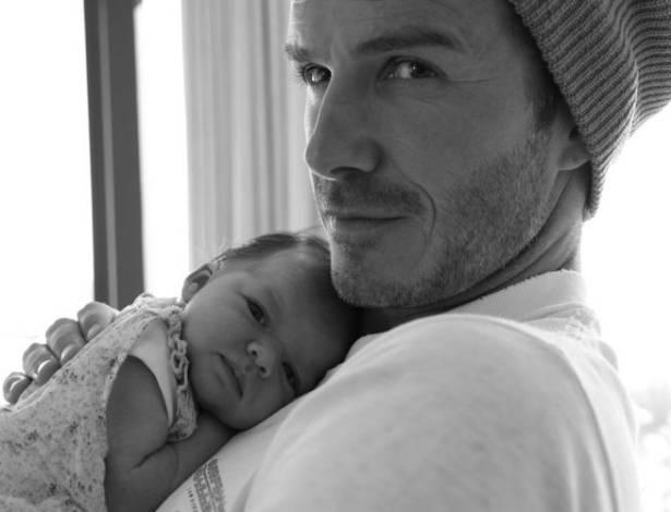 David Beckham e sua filha Harper Seven Beckham (7/8/11)