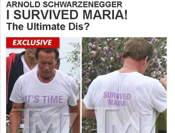Arnold Schwarzenegger usa camiseta