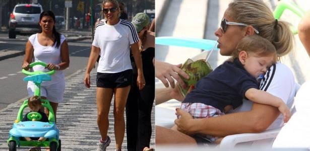 Adriane Galisteu passeia com o filho Vittorio no Leblon, na zona sul do Rio (9/8/2011)